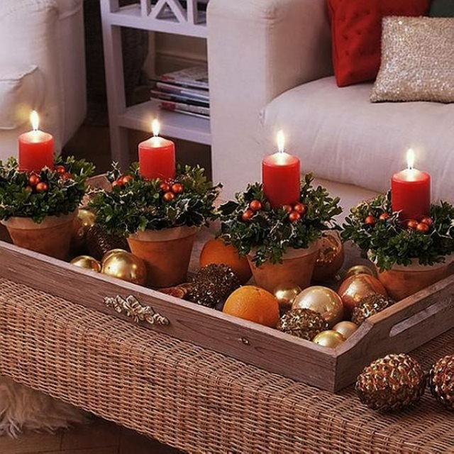 Ideas con velas para decorar tu casa en navidad efe blog for Decoracion del hogar con velas