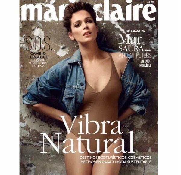 Mar Saura portada de Marie Claire Méxcio