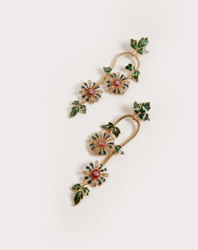 Pendientes Florales Vintage